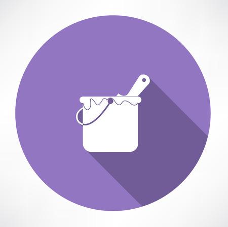 paint bucket icon Vectores