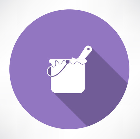 paint container: paint bucket icon Illustration