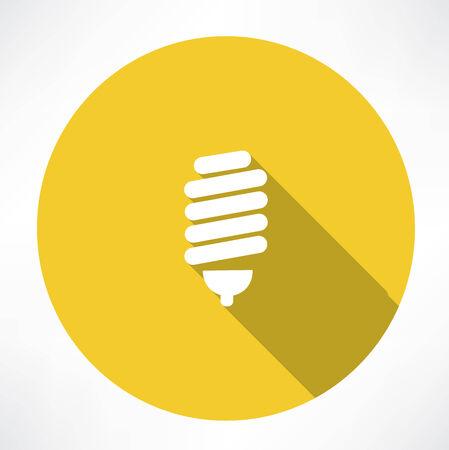 resourceful: energy saving lamp icon Illustration