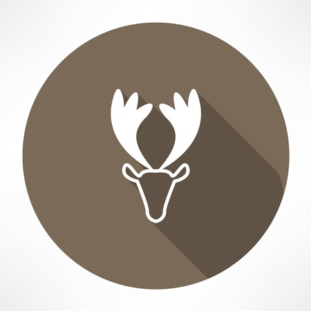 moose antlers: young deer icon