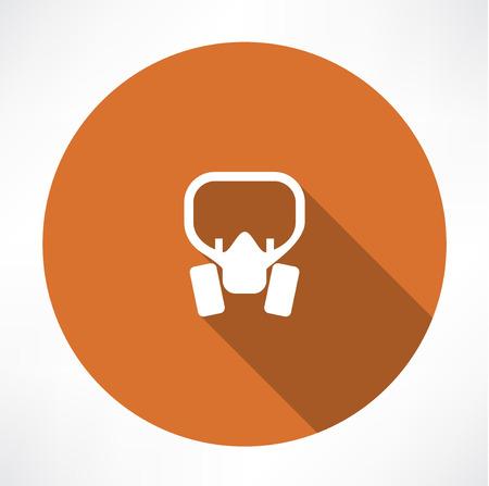 biological warfare: Gas mask Icon