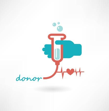 Blood Donation Concept Illustration Vector