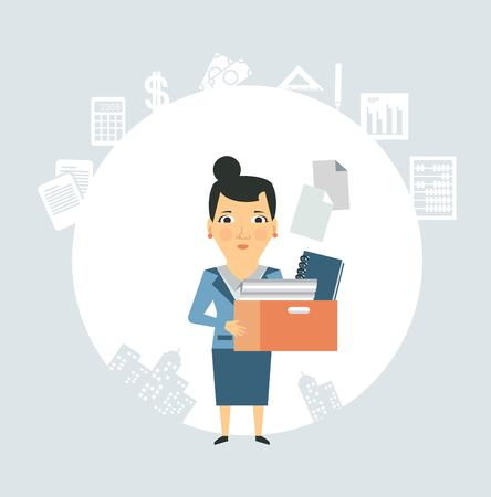Accountant is documents and accounts illustration