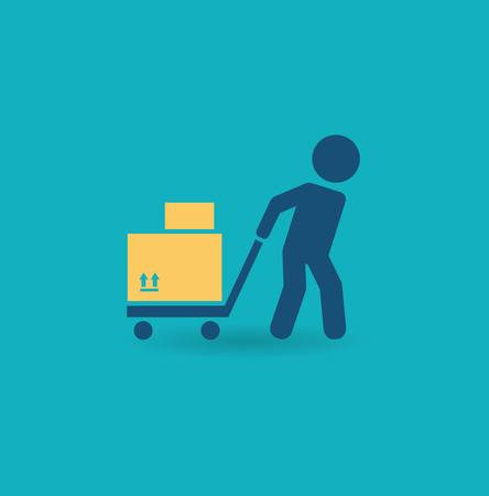 loader with cart icon