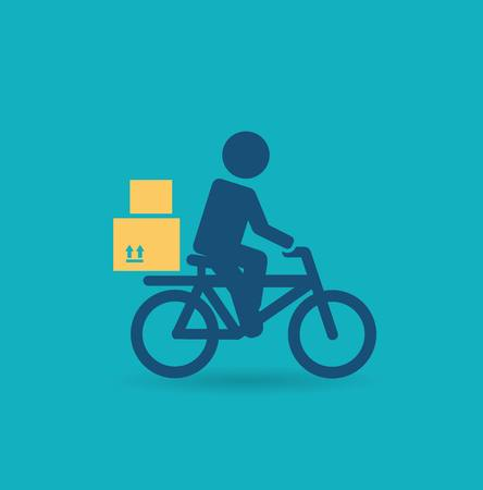 courier: courier rides a bicycle icon