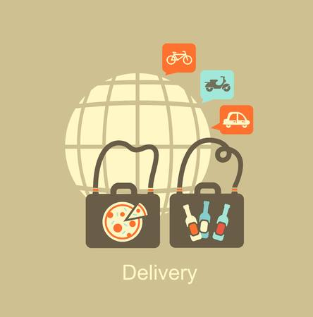 delivery of food icon Vector