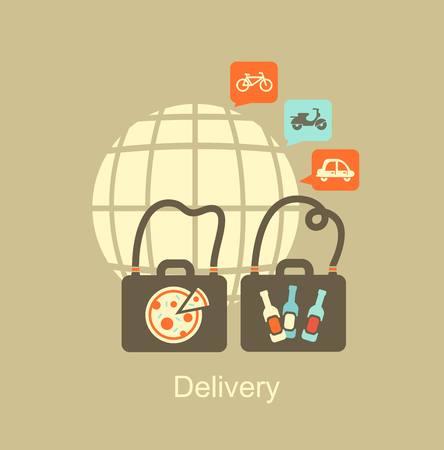 levering van voedsel pictogram Stock Illustratie