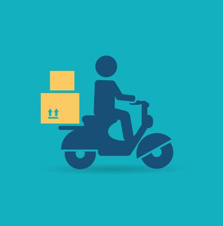 delivery scooter icon Vector