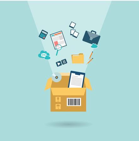 office relocation icon Illustration