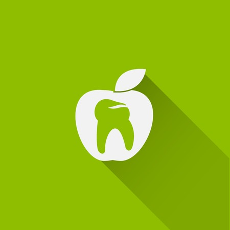 tooth apple icon 矢量图像