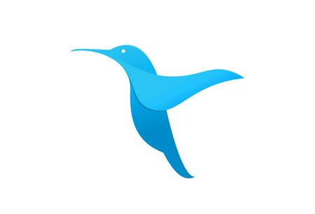bird beaks: Flying hummingbird or logo template.