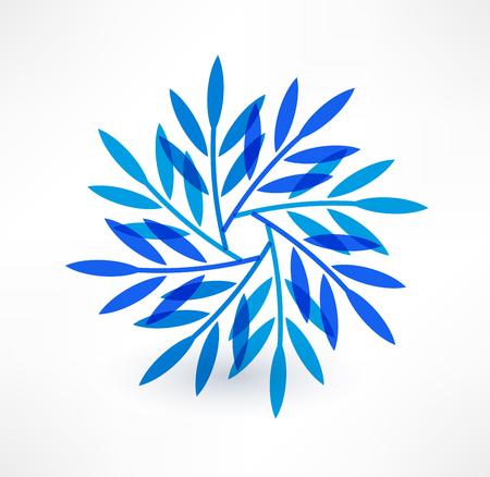 Leaves icon. Natural motive. Logo design. Illustration
