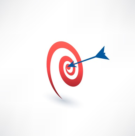 excellence: Target and arrow icon. The concept of purpose. Logo design.