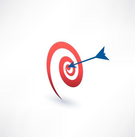 proposito: Target y icono de la flecha. El concepto de propósito. Diseño de logotipo. Vectores
