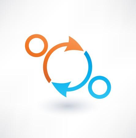 Partnerships and teamwork. Icon. Illustration