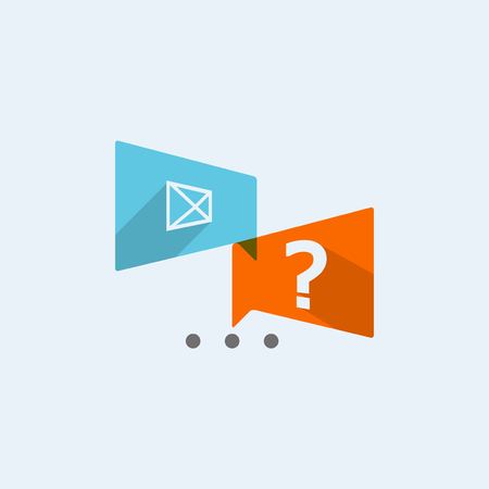 discussion forum: Chat icon Illustration