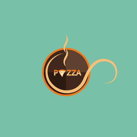 lunch box: Pizza icon Illustration