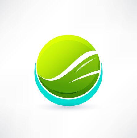 tech logo: Eco icon. Logo design.