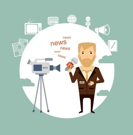 said: journalist said on camera illustration
