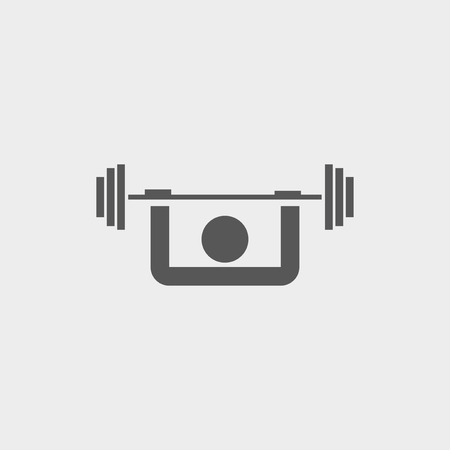 Weightlifter icon Vector