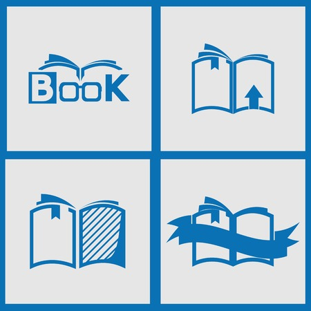Book icons set. Vector