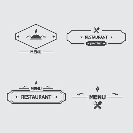 logo de comida: conjunto de iconos de menú