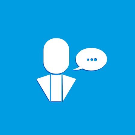 Dialogue and communication icon. Logo design.