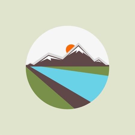 Icônes de montagne Banque d'images - 33673791