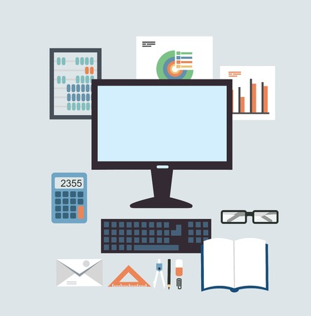 entering information: Desktop Accounting illustration