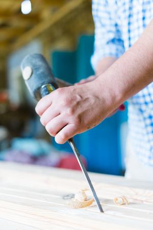gouge: gouge wood chisel carpenter tool hand hammer craftsman