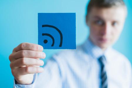 La technologie Internet et le concept de mise en réseau. Banque d'images - 33865975