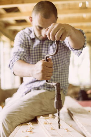 hand drill: Old hand drill
