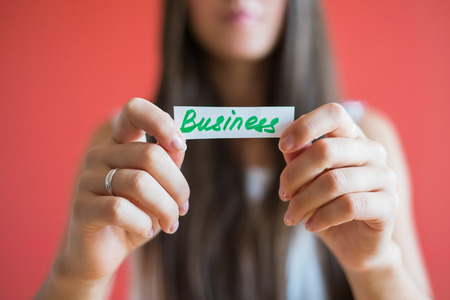Picture icon Business word in hand photo