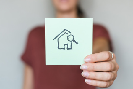 drawing image search home in hand