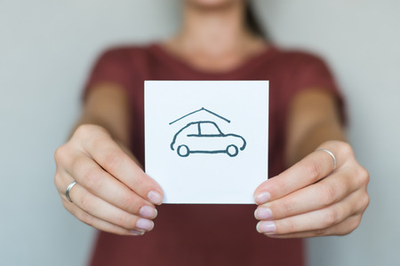 rental: vector real estate car in garage icon | modern flat design black pictogram isolated on white background