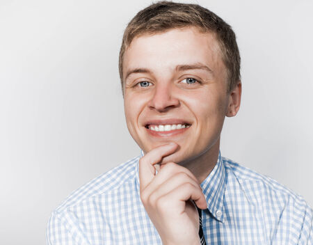 smilie: portrait of a smiling young businessman Stock Photo