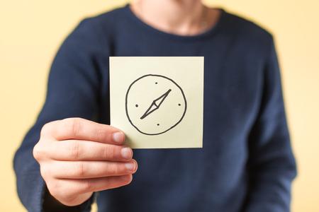 compas de dibujo: dibujo br�jula imagen Disponible Foto de archivo
