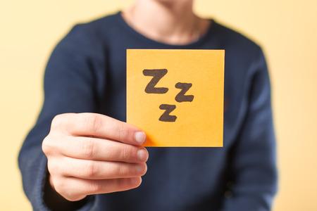 photo image of sleep in my hand photo