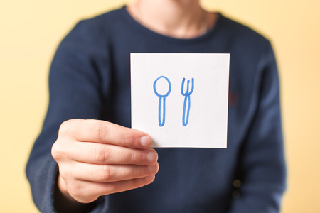 fork and spoon: fork spoon in hand