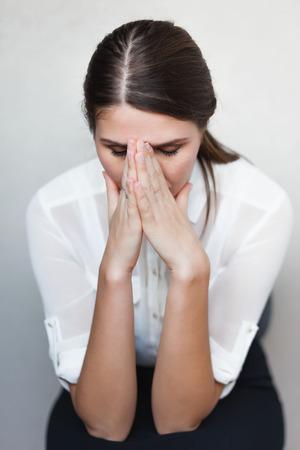 deplorable: sad young girl