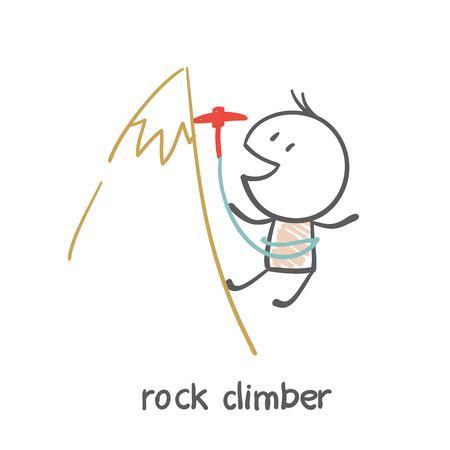 man climbing illustration