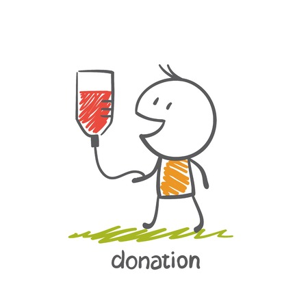 engaged: persons engaged in the donation illustration