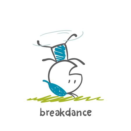 persons engaged breakdance illustration