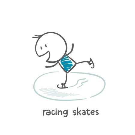 little skate: people skating illustration