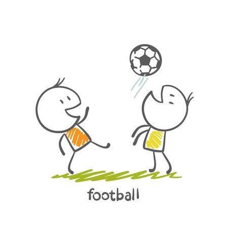 man playing football illustration