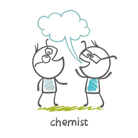 chemist tells the person on the illustration
