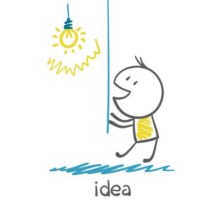 includes: people includes the idea of a light bulb illustration