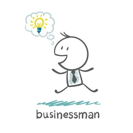 glad: businessman glad ideas illustration Illustration