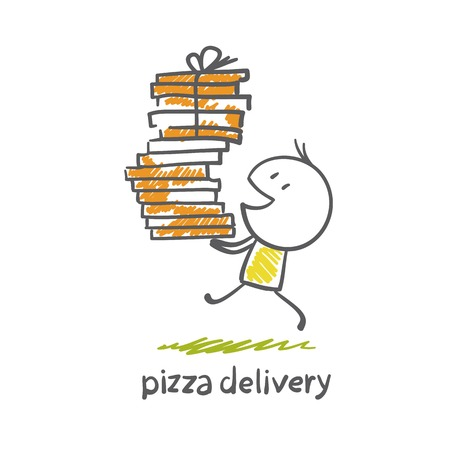 pizza delivery illustration Vector