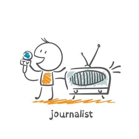 journalist said on the radio illustration